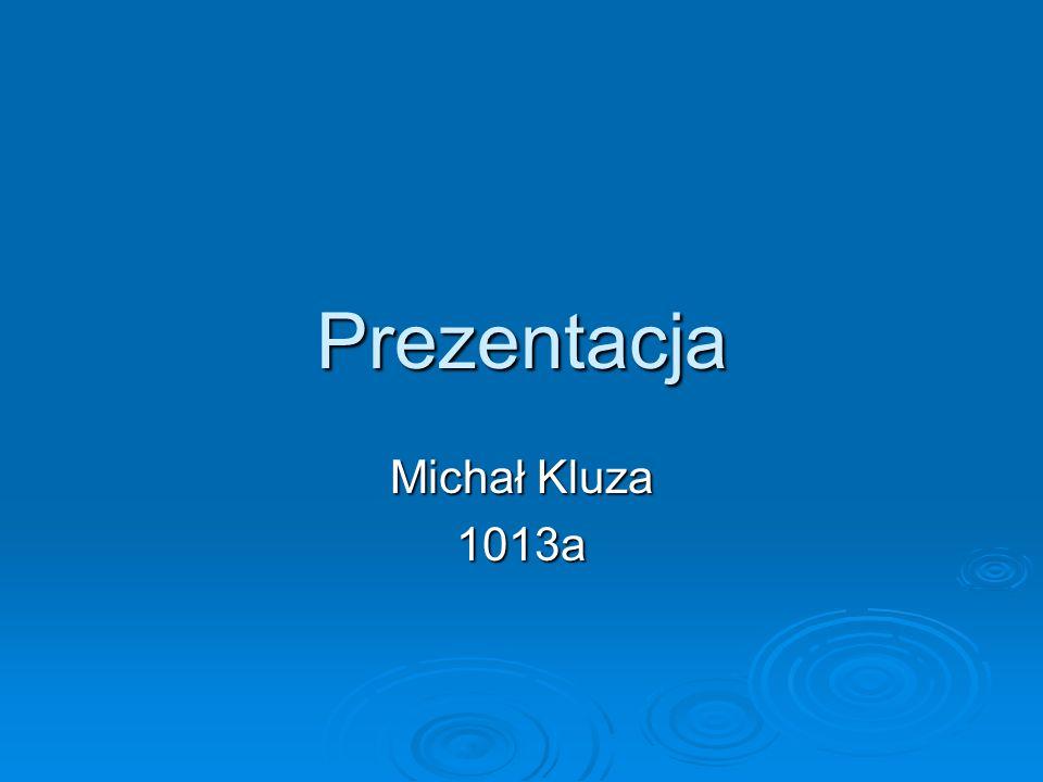 ŻYCIORYS Nazywam się Michał Kluza.Posiadam także drugie imię to jest Marek.