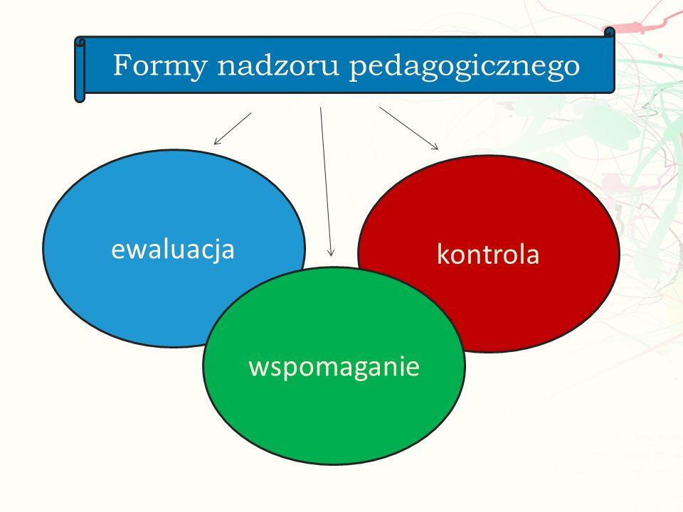 ewaluacja kontrola wspomaganie Formy nadzoru pedagogicznego
