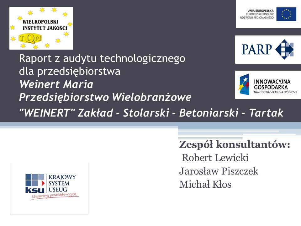 Raport z audytu technologicznego dla przedsiębiorstwa Weinert Maria Przedsiębiorstwo Wielobranżowe