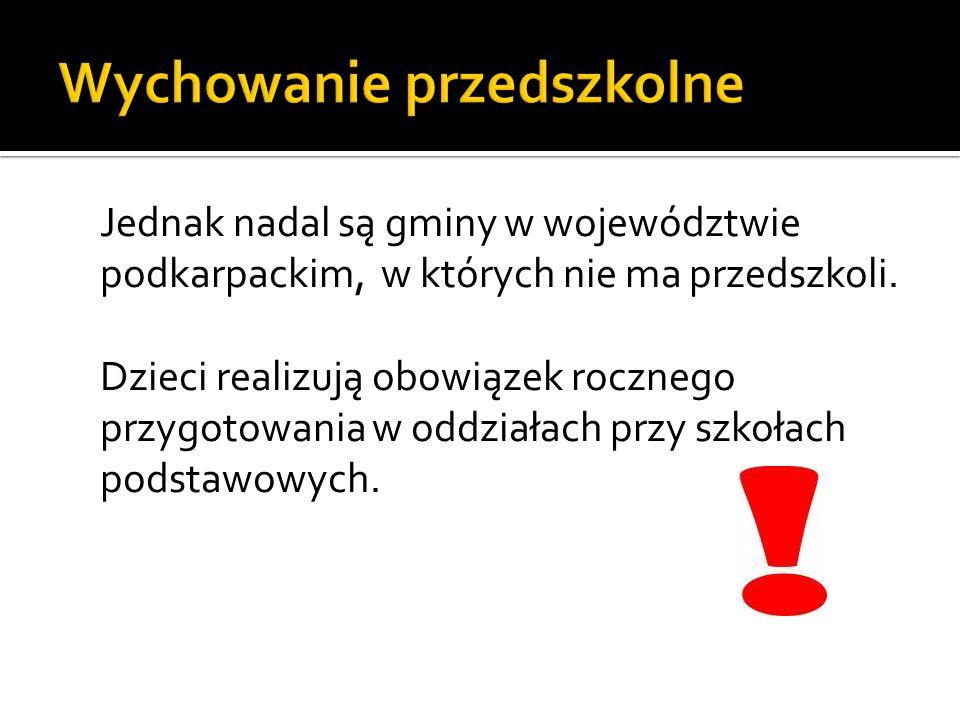 Jednak nadal są gminy w województwie podkarpackim, w których nie ma przedszkoli.