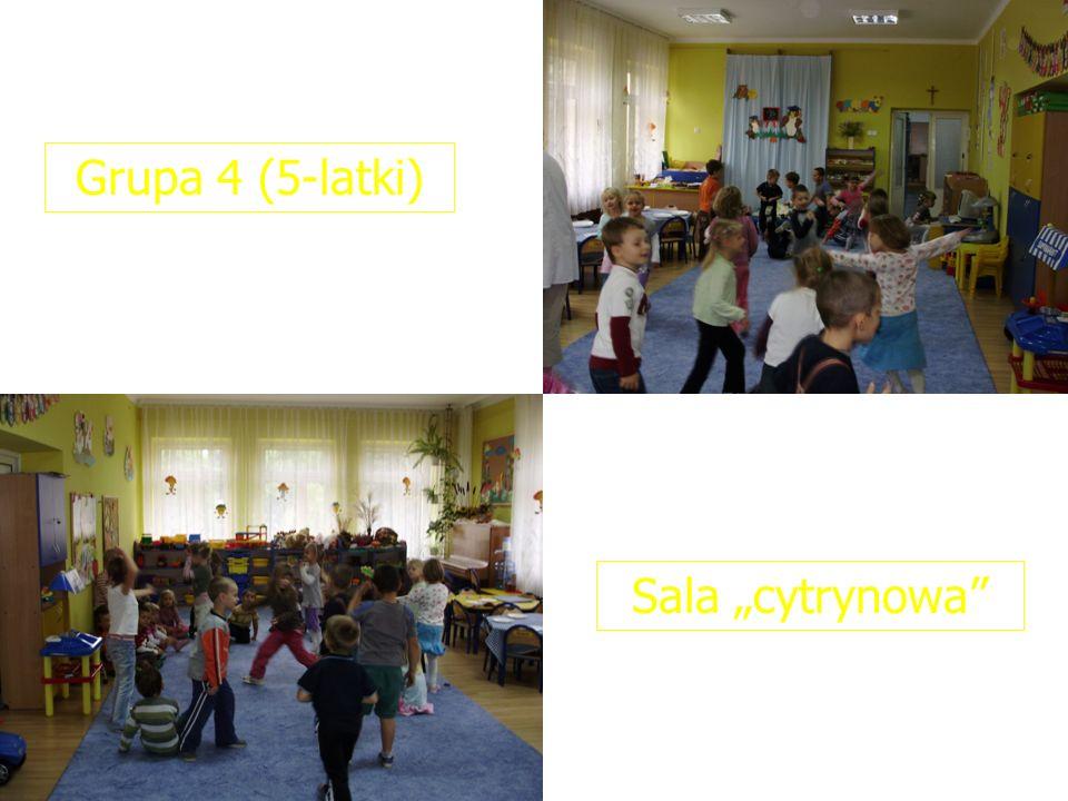 Grupa 4 (5-latki) Sala cytrynowa