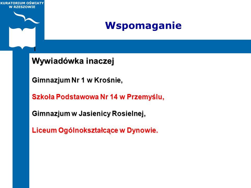 Wspomaganie Wywiadówka inaczej Gimnazjum Nr 1 w Krośnie, Szkoła Podstawowa Nr 14 w Przemyślu, Gimnazjum w Jasienicy Rosielnej, Liceum Ogólnokształcące