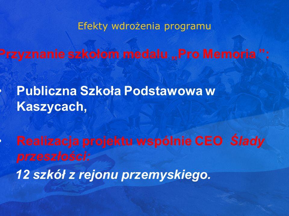 Efekty wdrożenia programu Przyznanie szkołom medalu Pro Memoria : Publiczna Szkoła Podstawowa w Kaszycach, Realizacja projektu wspólnie CEO Ślady prze