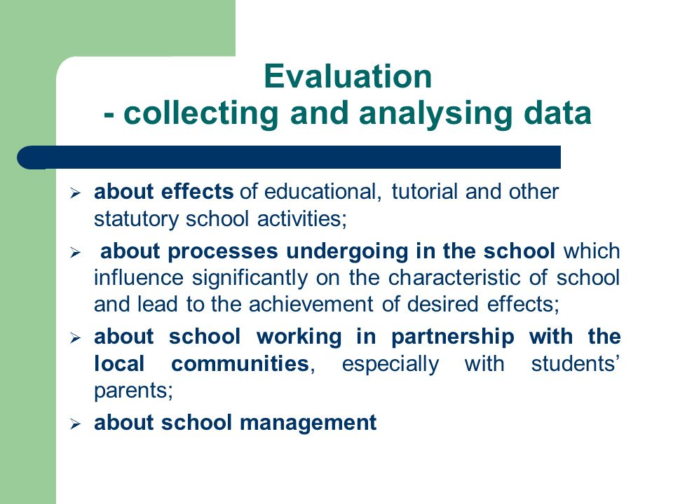 as the basis for planning for further improvement The map of the evaluation of the quality of work in the school
