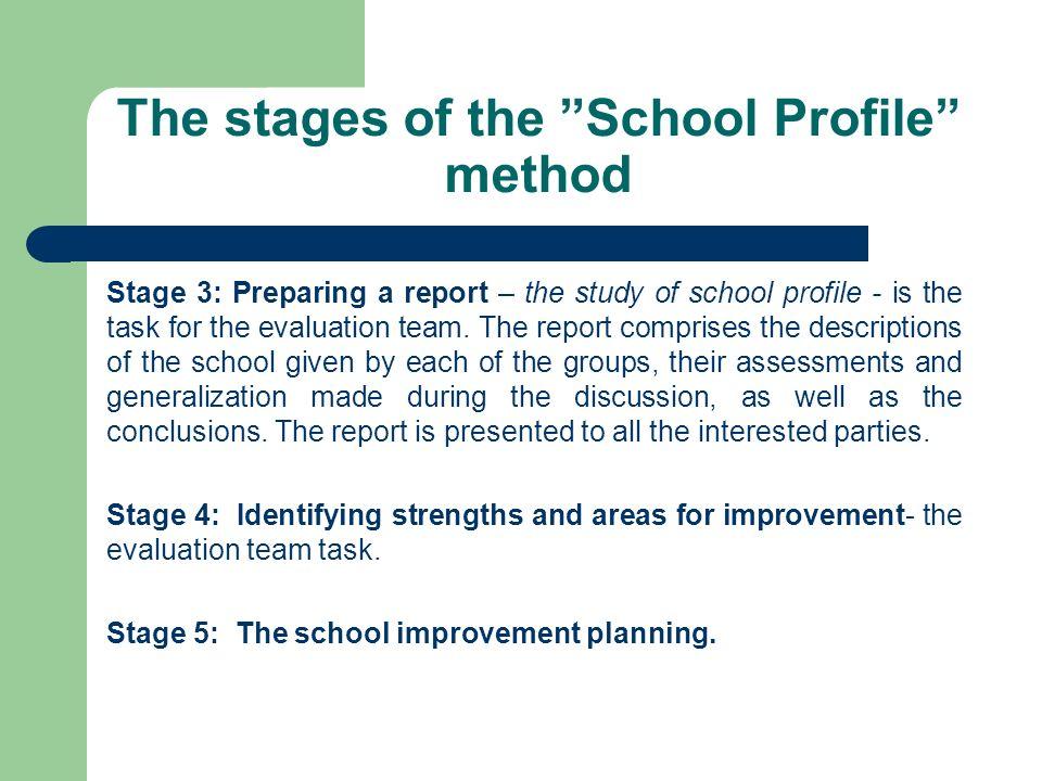 School Profile in practice 1.