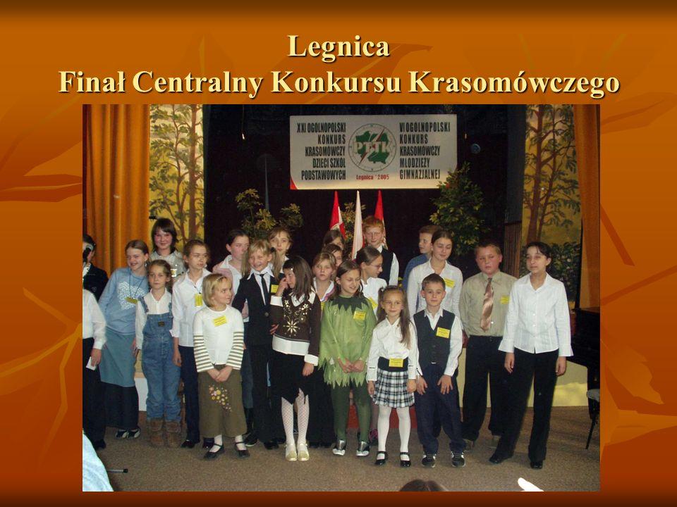 Legnica Finał Centralny Konkursu Krasomówczego