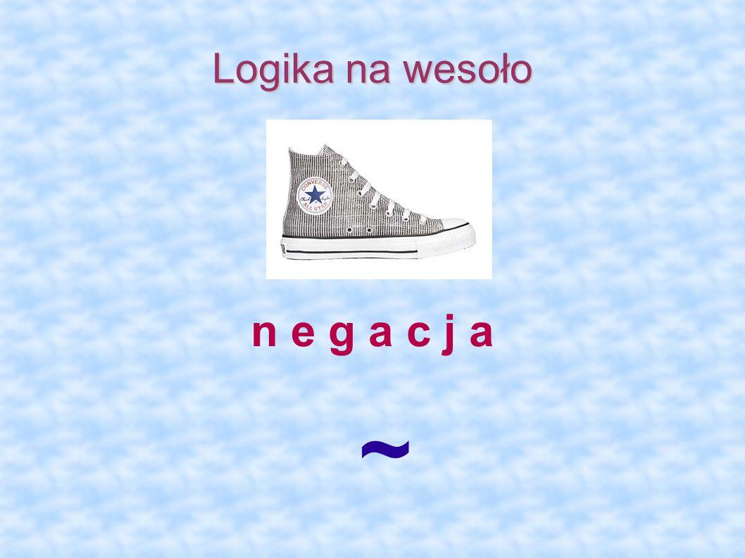 Logika na wesoło n e g a c j a ~