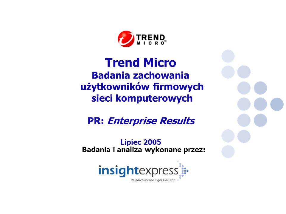Badania i analiza wykonane przez: Trend Micro Badania zachowania użytkowników firmowych sieci komputerowych PR: Enterprise Results Lipiec 2005