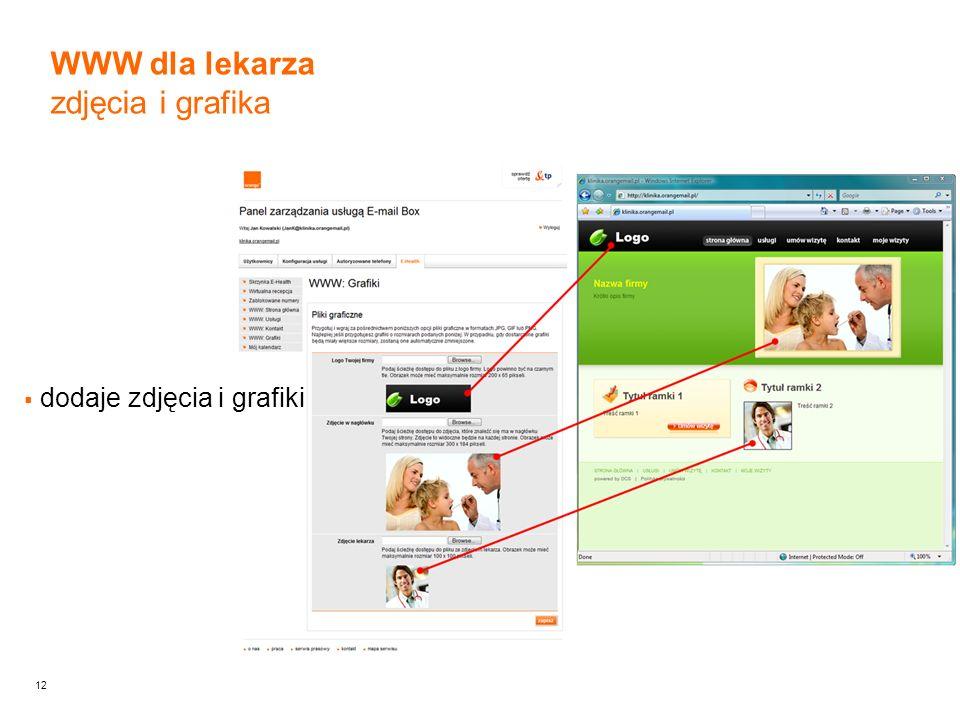 12 dodaje zdjęcia i grafiki WWW dla lekarza zdjęcia i grafika