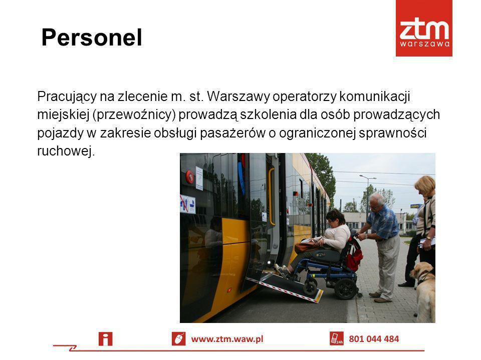 Personel Pracujący na zlecenie m. st. Warszawy operatorzy komunikacji miejskiej (przewoźnicy) prowadzą szkolenia dla osób prowadzących pojazdy w zakre