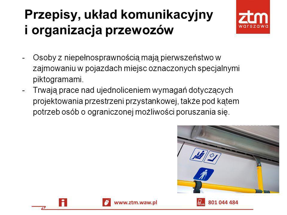Przepisy, układ komunikacyjny i organizacja przewozów -Osoby z niepełnosprawnością mają pierwszeństwo w zajmowaniu w pojazdach miejsc oznaczonych spec