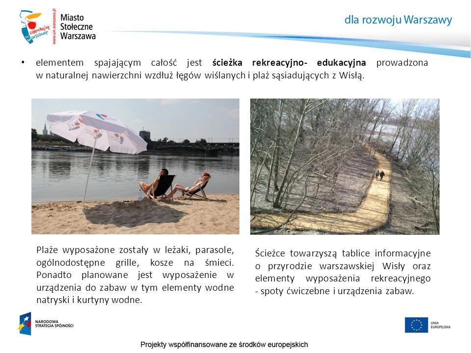 elementem spajającym całość jest ścieżka rekreacyjno- edukacyjna prowadzona w naturalnej nawierzchni wzdłuż łęgów wiślanych i plaż sąsiadujących z Wis