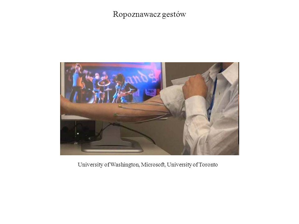 Ropoznawacz gestów University of Washington, Microsoft, University of Toronto