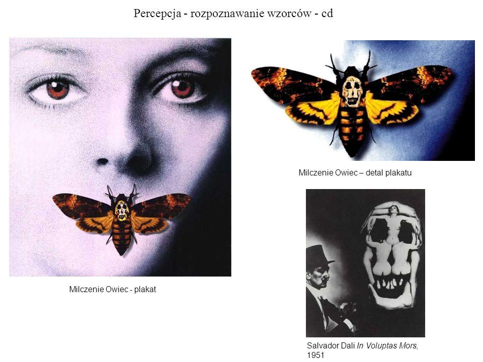 Percepcja - rozpoznawanie wzorców - cd Milczenie Owiec - plakat Milczenie Owiec – detal plakatu Salvador Dali In Voluptas Mors, 1951