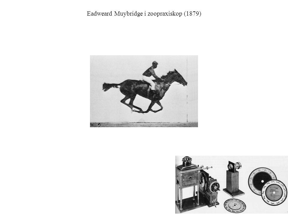 Eadweard Muybridge i zoopraxiskop (1879)
