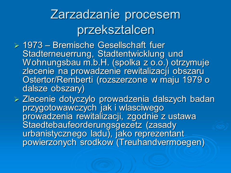 Zarzadzanie procesem przeksztalcen 1973 – Bremische Gesellschaft fuer Stadterneuerrung, Stadtentwicklung und Wohnungsbau m.b.H. (spolka z o.o.) otrzym