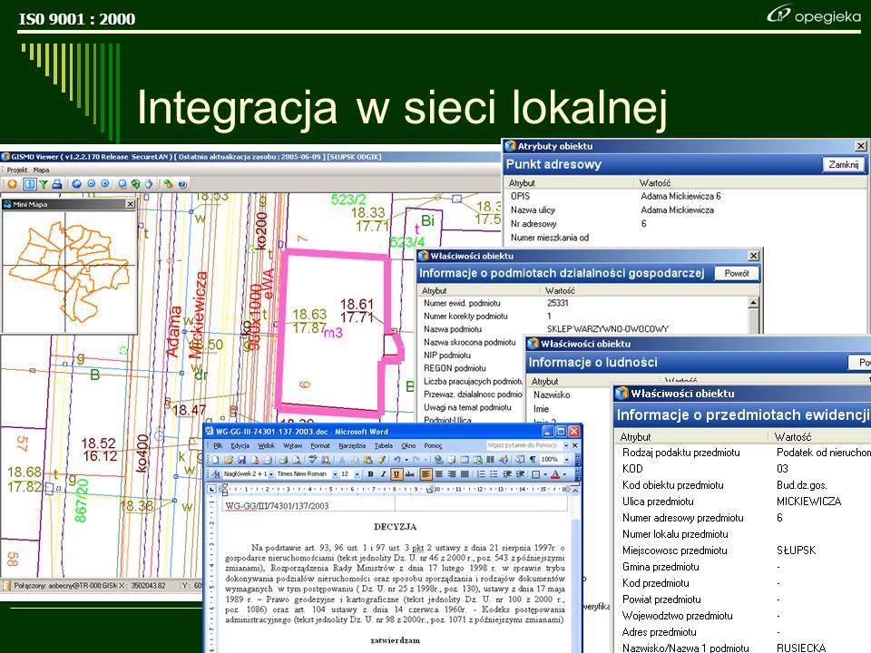 IS0 9001 : 2000 17 Integracja w sieci lokalnej