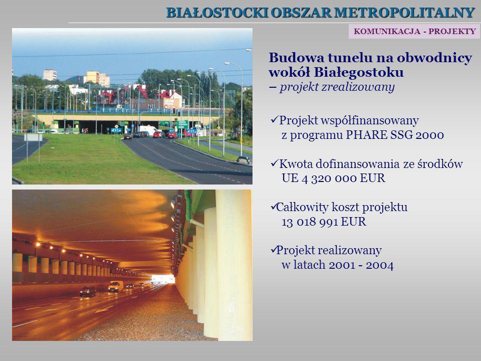 BIAŁOSTOCKI OBSZAR METROPOLITALNY Budowa tunelu na obwodnicy wokół Białegostoku – projekt zrealizowany Projekt współfinansowany z programu PHARE SSG 2