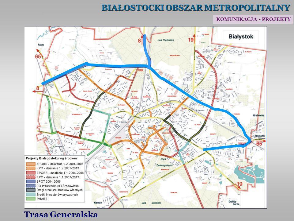 BIAŁOSTOCKI OBSZAR METROPOLITALNY Trasa Generalska KOMUNIKACJA - PROJEKTY