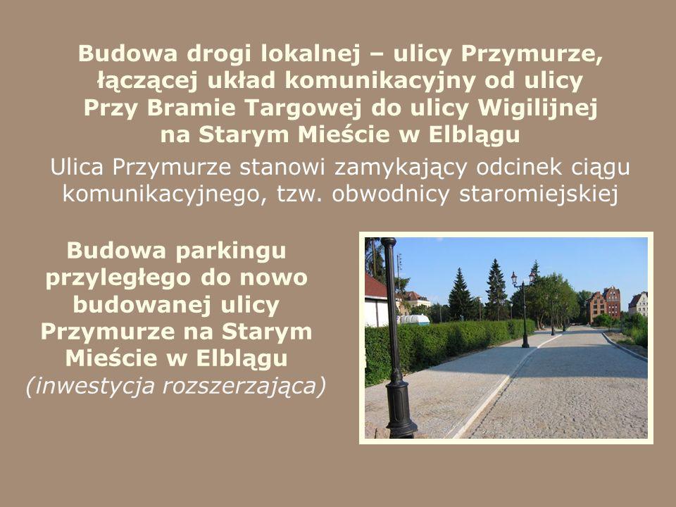 Budowa drogi lokalnej – ulicy Przymurze, łączącej układ komunikacyjny od ulicy Przy Bramie Targowej do ulicy Wigilijnej na Starym Mieście w Elblągu Ul