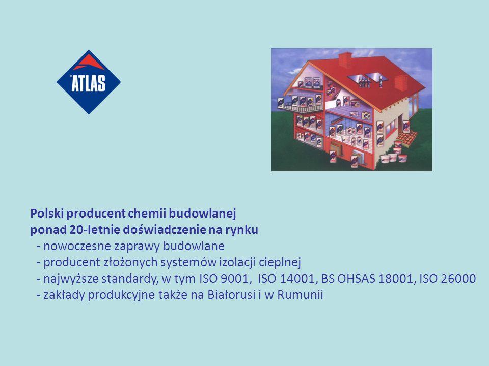 Polski producent chemii budowlanej ponad 20-letnie doświadczenie na rynku - nowoczesne zaprawy budowlane - producent złożonych systemów izolacji ciepl