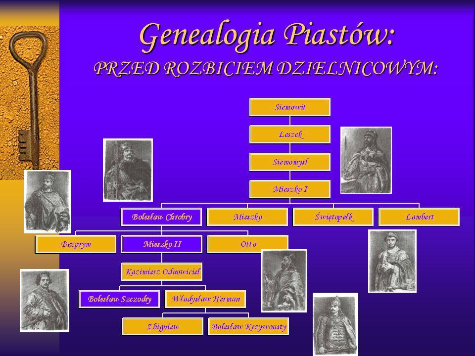 Piastowscy władcy: W CZASIE ROZBICIA DZIELNICOWEGO