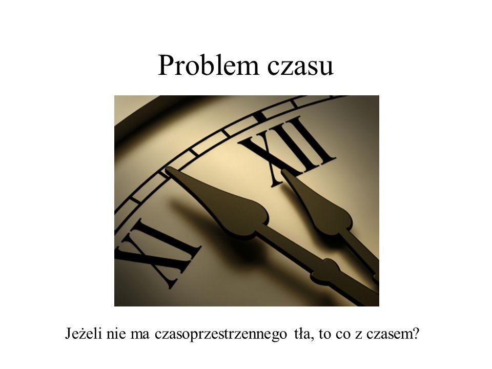 Problem czasu Jeżeli nie ma czasoprzestrzennego tła, to co z czasem?