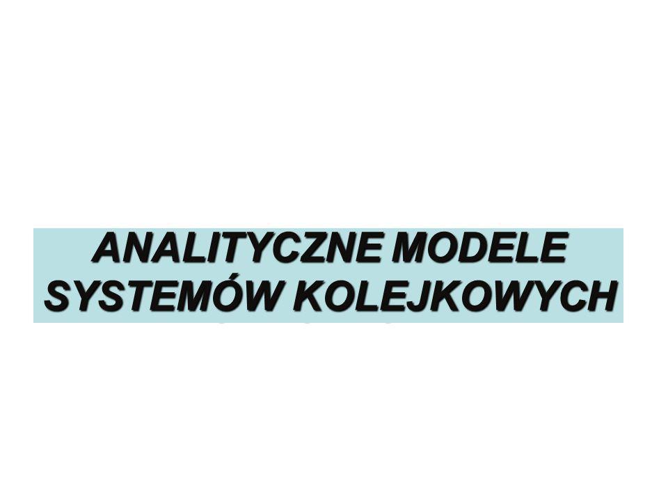 Systemy kolejkowe ANALITYCZNE MODELE SYSTEMÓW KOLEJKOWYCH prof. dr hab. Grażyna Karmowska