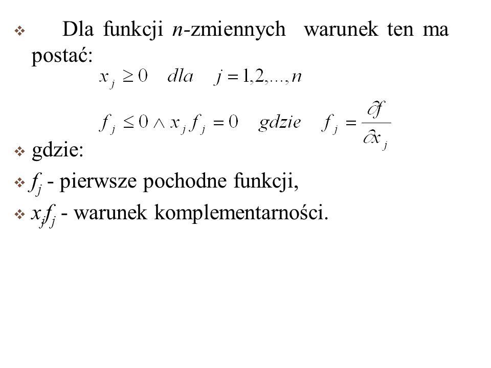 1 Warunki Kuhn-Tucker,a wystarczające dla istnienia maksimum globalnego. Dla funkcji f(x) w przypadku, gdy jest ona ciągła, różniczkowalna w przedzial
