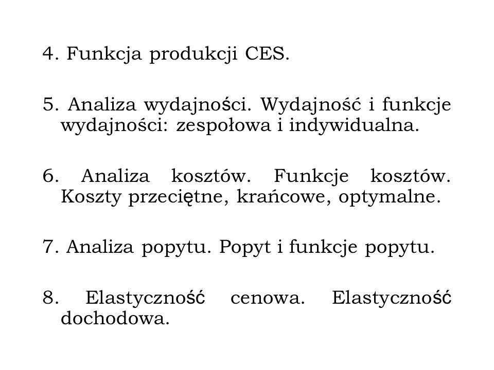 TEMATYKA WYKŁADÓW I ĆWICZEŃ 1. Elementy matematyki: granice funkcji, pochodne funkcji, asymptoty. Ekstremum funkcji wielu zmiennych. 2. Analiza produk