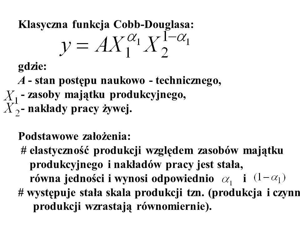 Techniczna stopa substytucji kapitału (x1) przez pracę (x2) Techniczna stopa substytucji pracy (x2) przez kapitał (x1)