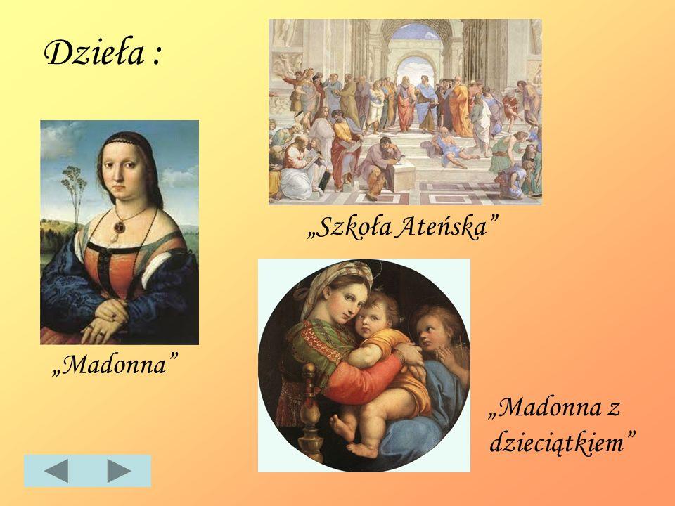 Dzieła : Madonna Szkoła Ateńska Madonna z dzieciątkiem
