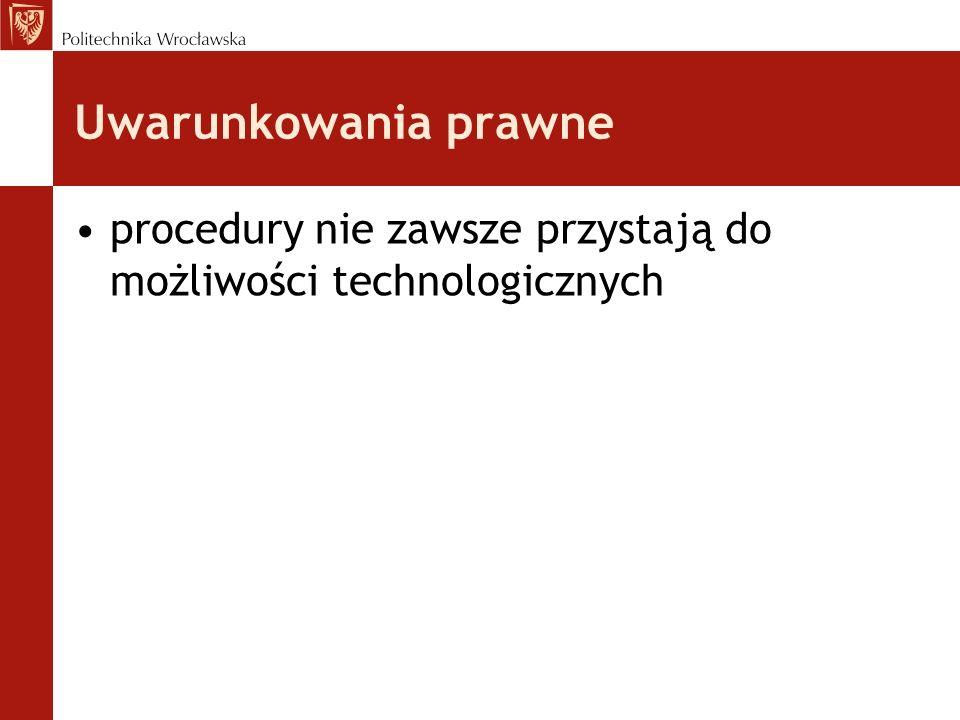 Uwarunkowania prawne procedury nie zawsze przystają do możliwości technologicznych