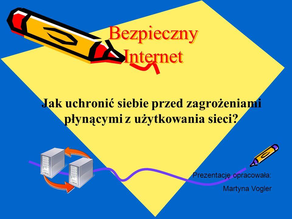 Bezpieczny Internet2 Zasady korzystania z Internetu W tej prezentacji znajdziecie zasady, które zapewnią Wam bezpieczeństwo w sieci.