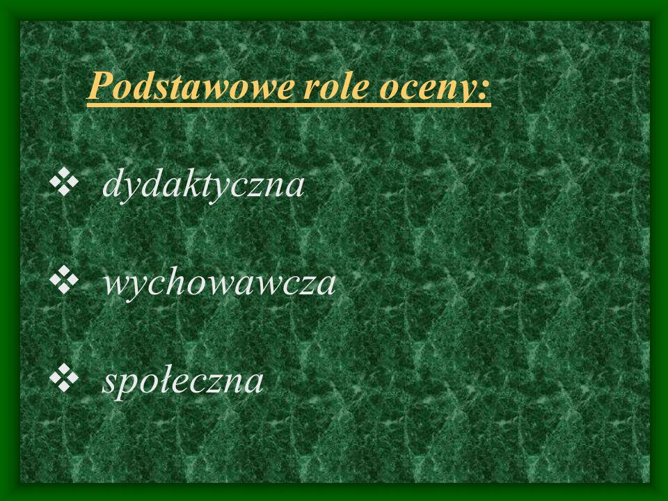 ROLE OCENY