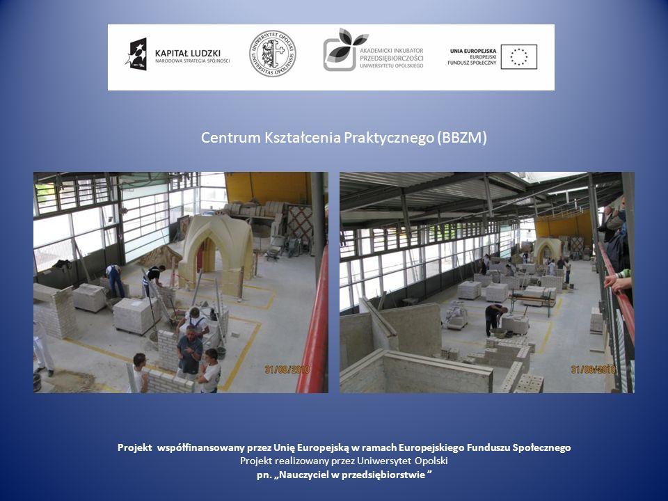 Centrum Kształcenia Praktycznego (BBZM) Projekt współfinansowany przez Unię Europejską w ramach Europejskiego Funduszu Społecznego Projekt realizowany przez Uniwersytet Opolski pn.