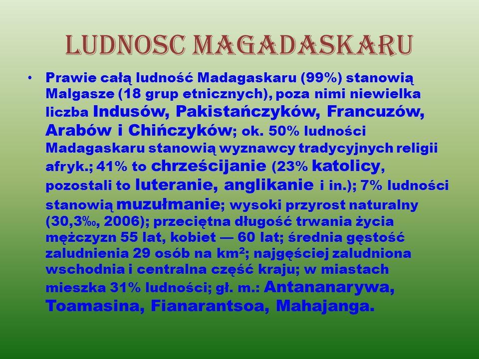 Jezyki madagaskaru Mieszkańcy Madagaskaru posługują się głównie językiem malgaskim.