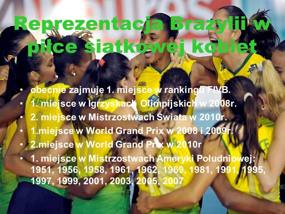Reprezentacja Brazylii w piłce siatkowej kobiet obecnie zajmuje 1. miejsce w rankingu FIVB. 1. miejsce w Igrzyskach Olimpijskich w 2008r. 2. miejsce w