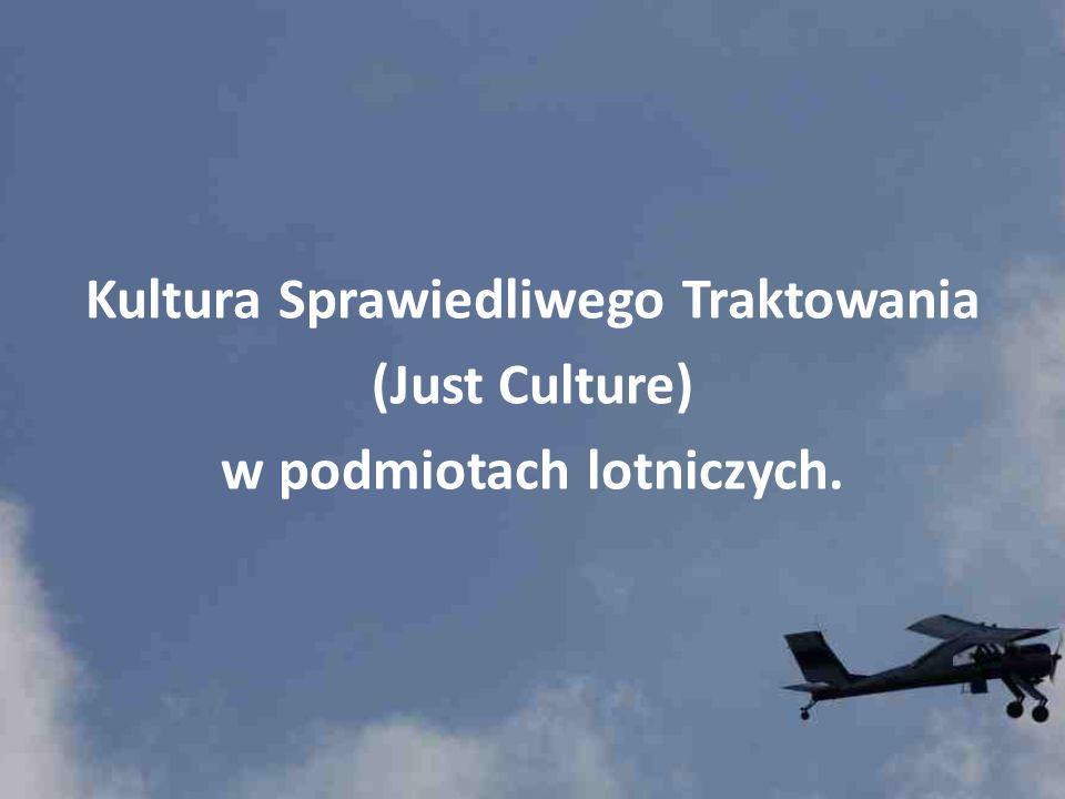 Kultura Sprawiedliwego Traktowania (Just Culture) w podmiotach lotniczych.