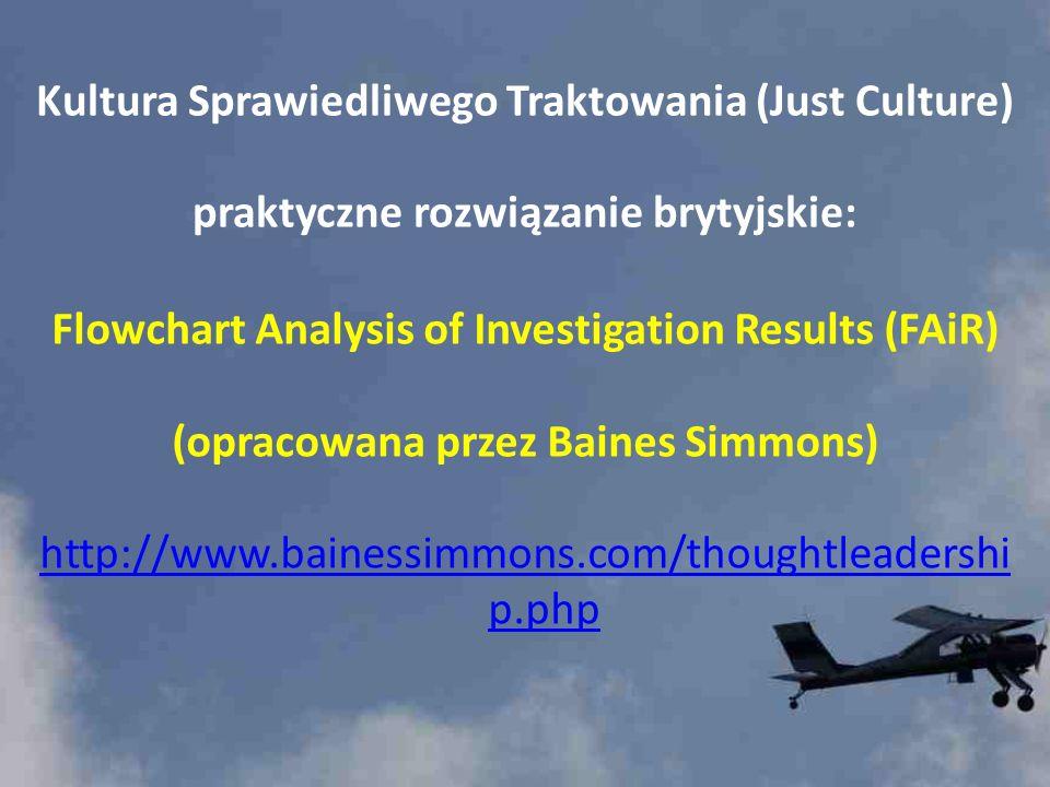 Kultura Sprawiedliwego Traktowania (Just Culture) praktyczne rozwiązanie brytyjskie: Flowchart Analysis of Investigation Results (FAiR) (opracowana pr