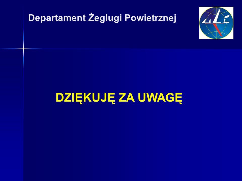 DZIĘKUJĘ ZA UWAGĘ Departament Żeglugi Powietrznej