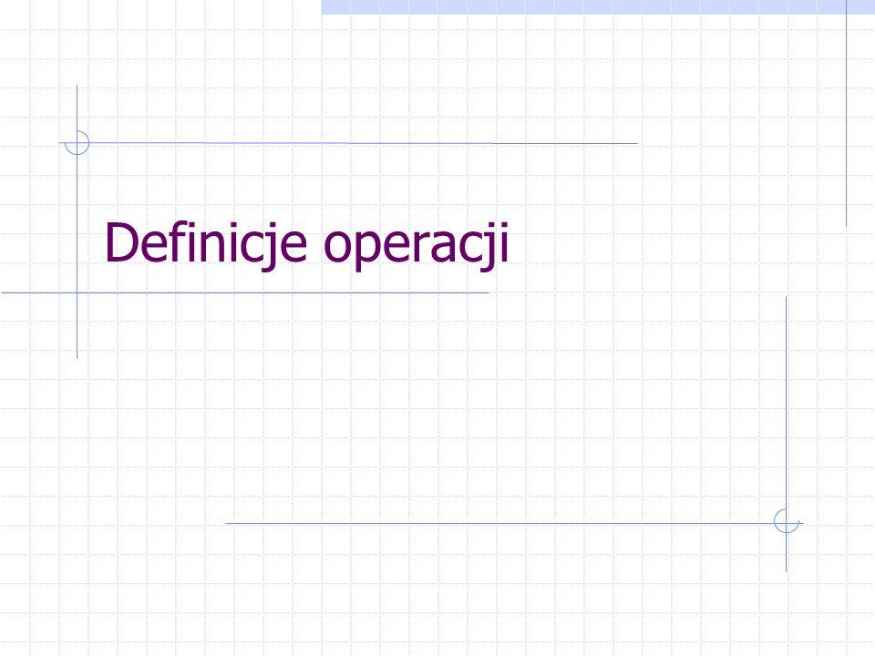 Zawartość rozdziału wstępnego Definicja operacji Cele zarządzania operacyjnego Podobieństwo procesów różnych organizacji Typologia decyzji operacyjnych