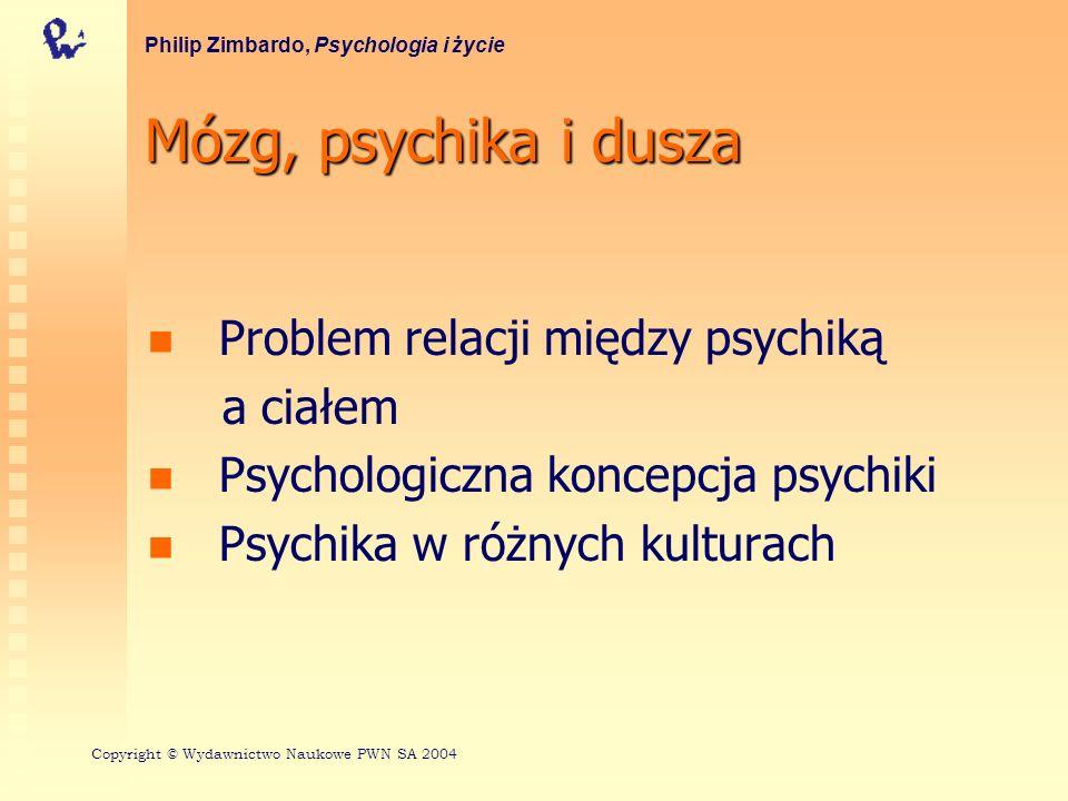 Mózg, psychika i dusza Problem relacji między psychiką a ciałem Psychologiczna koncepcja psychiki Psychika w różnych kulturach Philip Zimbardo, Psycho