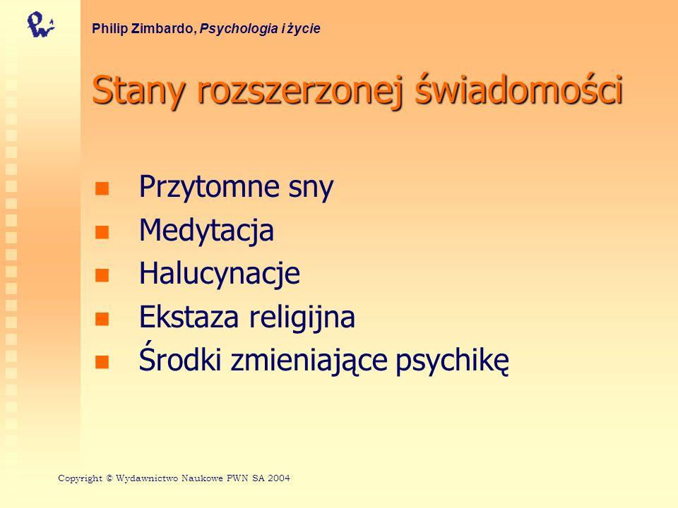Stany rozszerzonej świadomości Przytomne sny Medytacja Halucynacje Ekstaza religijna Środki zmieniające psychikę Philip Zimbardo, Psychologia i życie