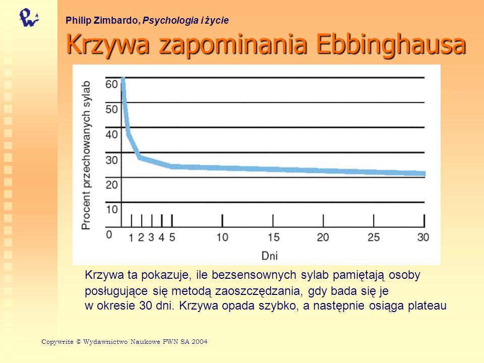 Model systemu pamięciowego człowieka Philip Zimbardo, Psychologia i życie Copywrite © Wydawnictwo Naukowe PWN SA 2004 Z: HUMAN MEMORY: STRUCTURES AND PROCESSES, Roberta L.