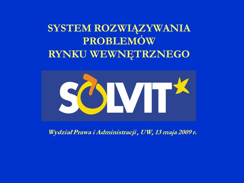 SYSTEM ROZWIĄZYWANIA PROBLEMÓW RYNKU WEWNĘTRZNEGO Wydział Prawa i Administracji, UW, 13 maja 2009 r.