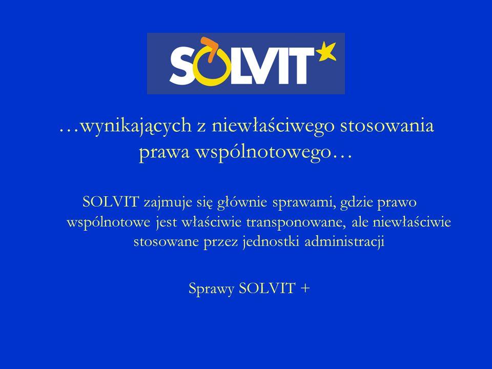 Komisja Europejska Dyrekcja Generalna Rynek Wewnętrzny i Usługi www.ec.europa.eu/solvit