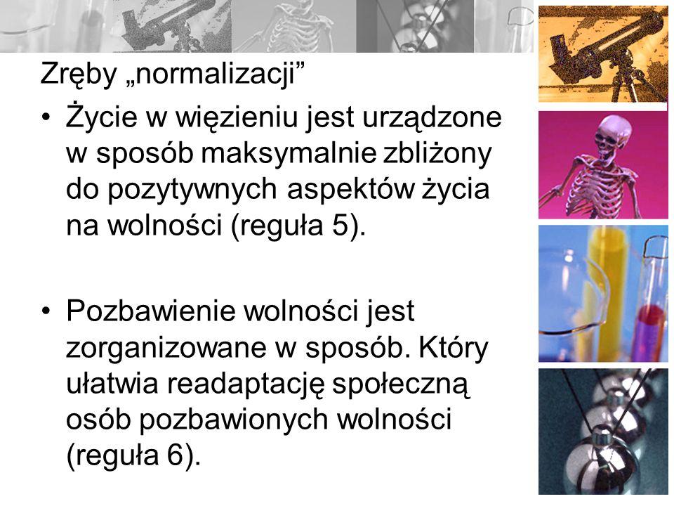 Contact with the outside world Reguła 24: Formy komunikacji Ograniczenia i monitoring Organizacja wizyt Kontakt ze światem zewn.