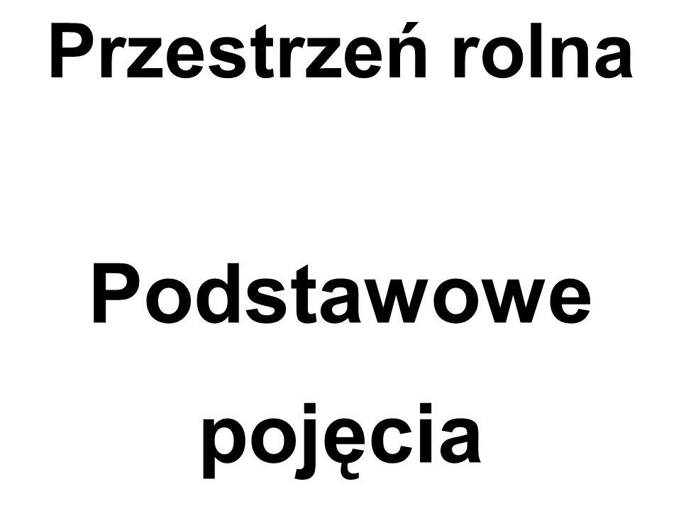 Pojęcia dotyczące przestrzeni rolniczej Użytek rolny UR Grunt rolny GR Nieruchomość rolna NR Gospodarstwo rolne Gos.Rol.