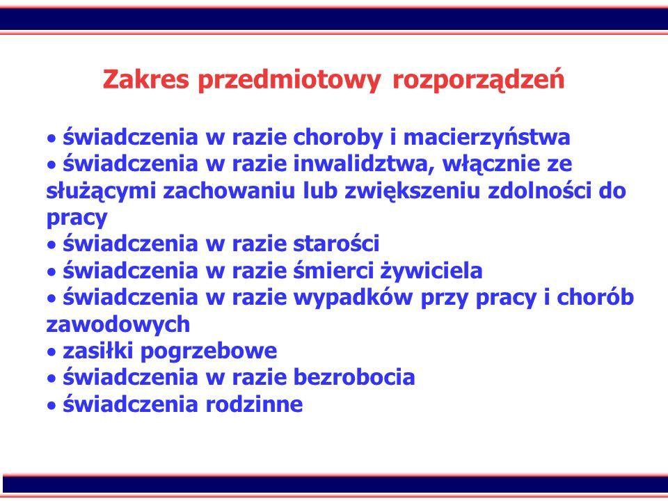 20 Zakres przedmiotowy rozporządzeń świadczenia w razie choroby i macierzyństwa świadczenia w razie inwalidztwa, włącznie ze służącymi zachowaniu lub